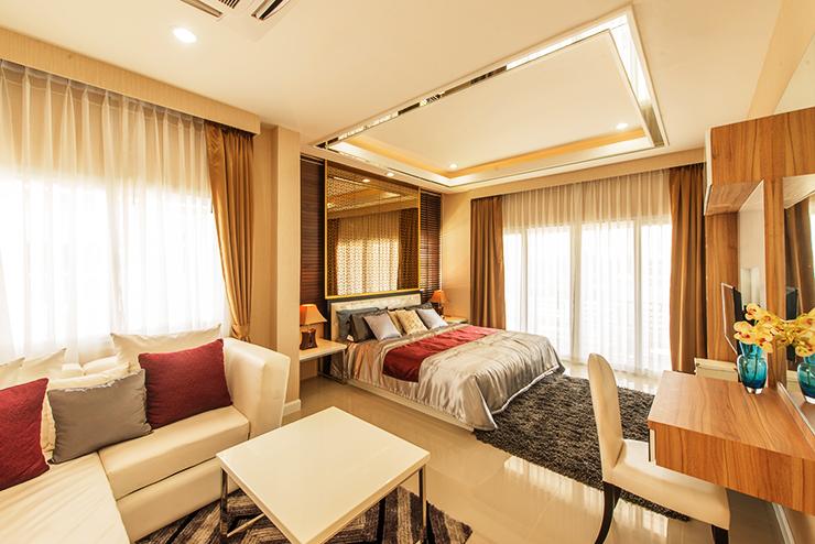 ห้องนอน บ้านเดี่ยว เซนสิริ โฮม สขุมวิท แยกเจ สัตหีบ ชลบุรี