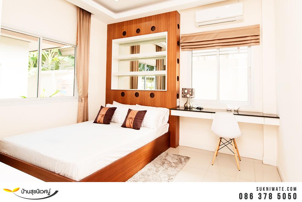 ห้องนอนสำหรับรับแขก บ้านเดี่ยว โคโค่ ฮิลล์ แหลมฉบัง อ่าวอุดม ศรีราชา ชลบุรี