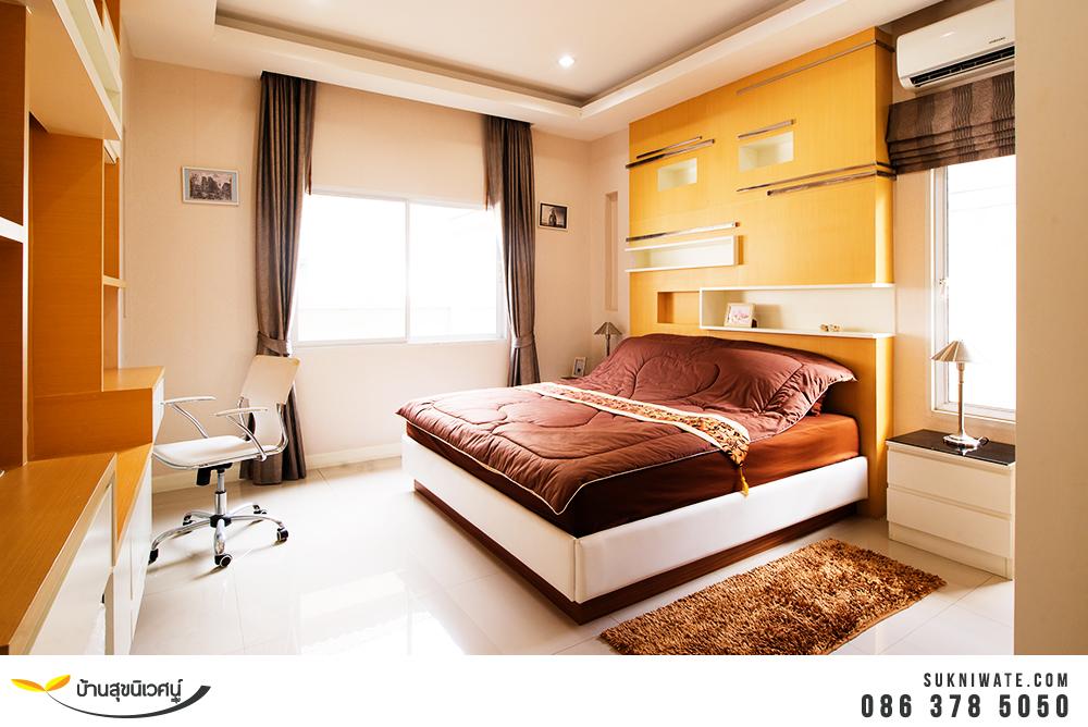ห้องนอน บ้านเดี่ยว โคโค่ ฮิลล์ แหลมฉบัง อ่าวอุดม ศรีราชา ชลบุรี