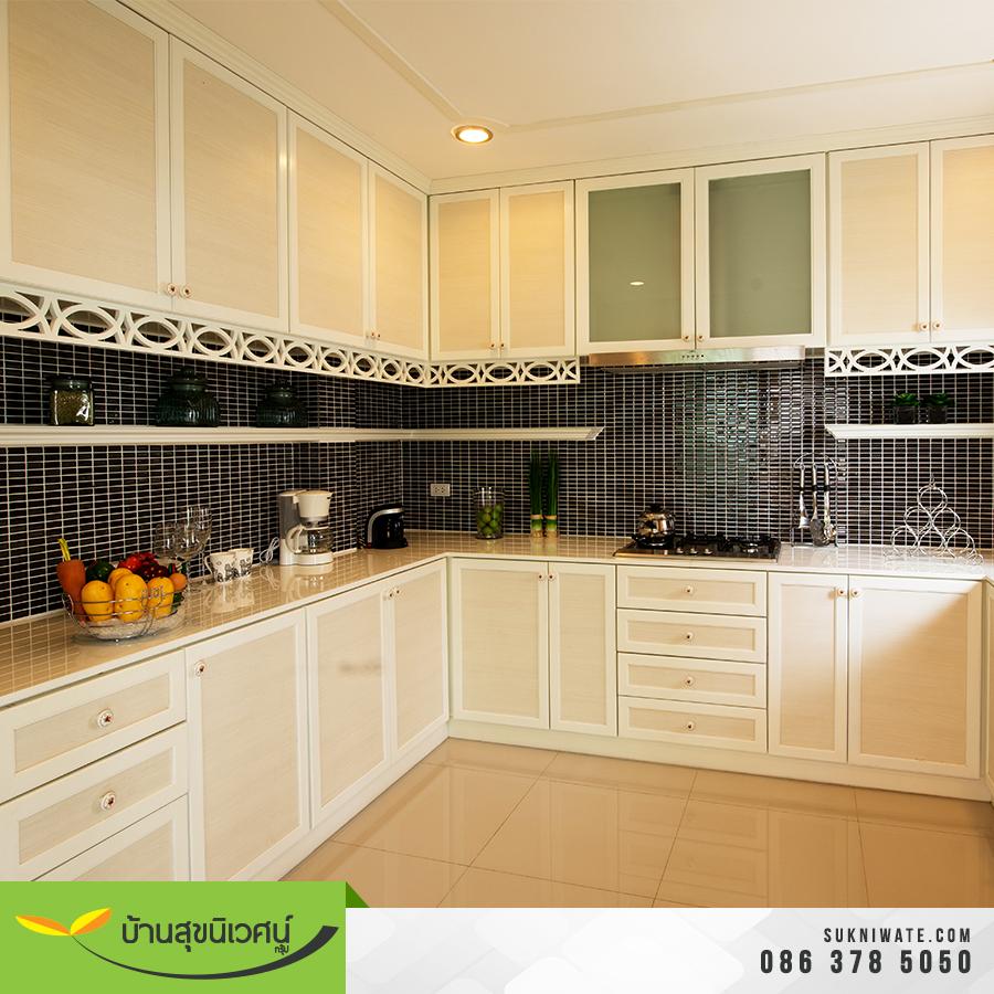 ห้องครัว บ้านเดี่ยว โคโค่ ปาร์ค สขุมวิท โรงโป๊ะ ชลบุรี
