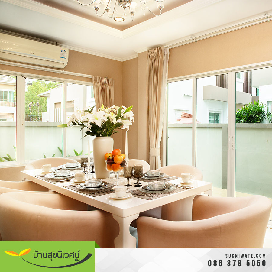 ห้องอาหาร บ้านเดี่ยว โคโค่ ปาร์ค สขุมวิท โรงโป๊ะ ชลบุรี