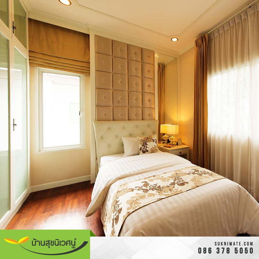ห้องนอน บ้านเดี่ยว โคโค่ ปาร์ค สขุมวิท โรงโป๊ะ ชลบุรี