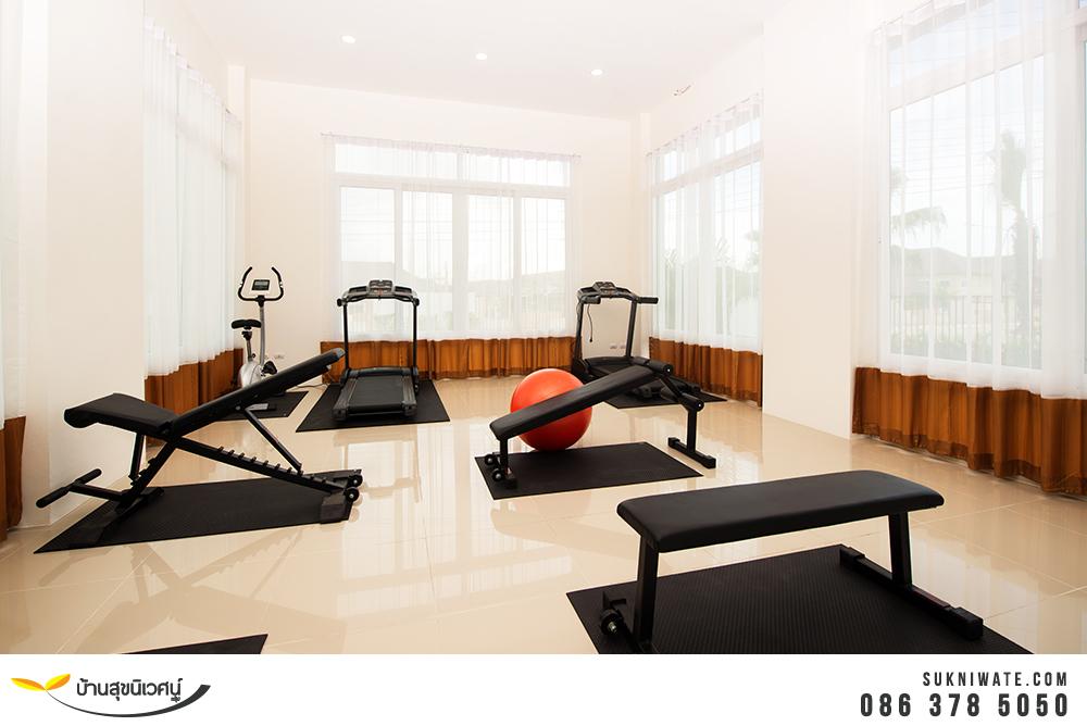 ห้องออกกำลังกาย เซนสิริ โฮม แหลมฉบัง อ่าวอุดม ศรีราชา ชลบุรี