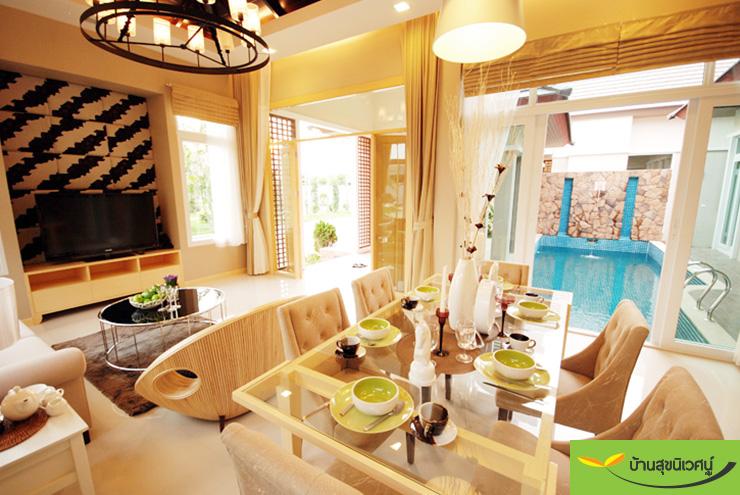 ห้องนั่งเล่น บ้านเดี่ยว สิริศา 16 - พัทยา ชลบุรี