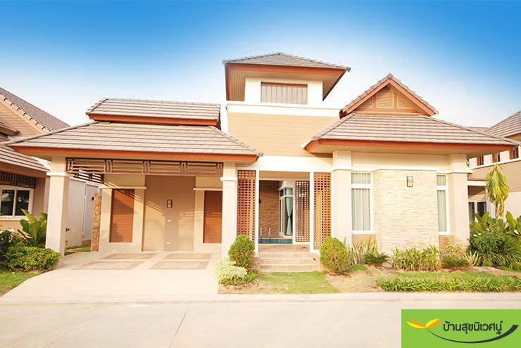 บรรยากาศหน้าบ้าน บ้านเดี่ยว สิริศา 16 - พัทยา ชลบุรี