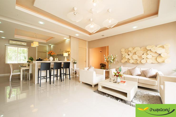 ห้องนั่งเล่น บ้านเดี่ยว เลอบีช โฮม (Le Beach Home) บางเสร่ สัตหีบ ชลบุรี