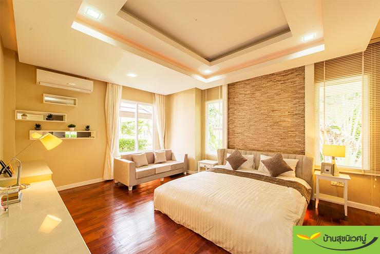 ห้องนอน บ้านเดี่ยว เลอบีช โฮม (Le Beach Home) บางเสร่ สัตหีบ ชลบุรี